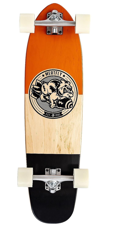 longboard Meatfly Bombastic Cruiser - Cognac/Wood/Black 7.80x31